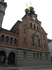 """La única iglesia ortodoxa de la ciudad. Fue construida por el gobierno rusa a finales del siglo XVII, y está dedicada al santo patrón de Rusia, Alexander Nevsky. Se trata de un """"regalo"""" que hizo la realeza danesa para afianzar la unión entre las dinastías reales danesas y rusas."""