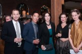 Four people at 70th Anniversary Celebration for HB Studio, provider of NYC acting classes