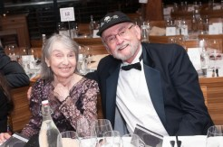 Two people at 70th Anniversary Celebration for HB Studio, provider of NYC acting classes