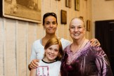 Teresa Teuscher, Letty Ferrer, and child at HB Studio, provider of acting classes in NYC
