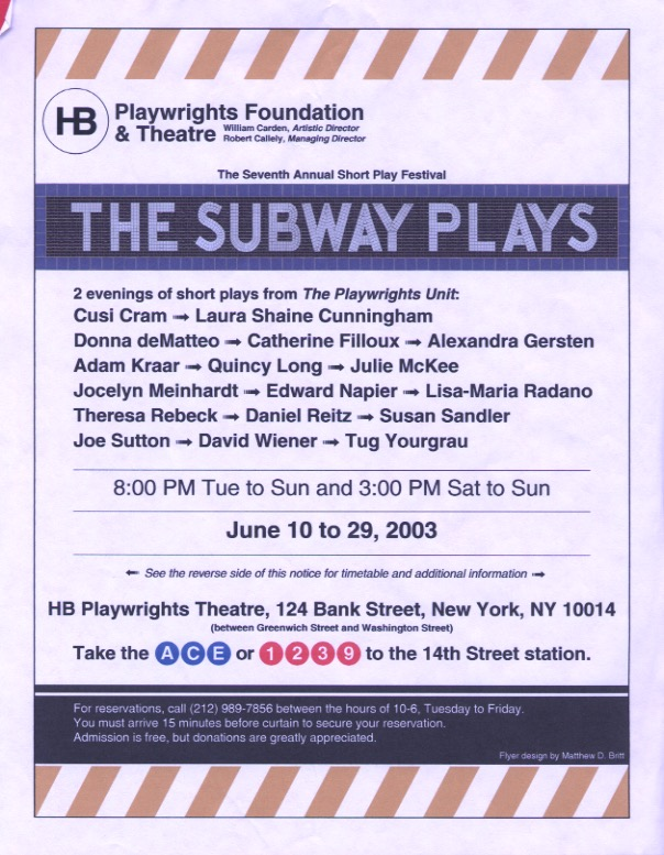 HB Studio's - The Subway Plays