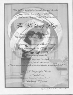 The Wedding Plays - Poster Flyer