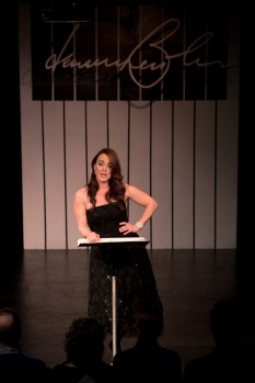 Melissa Errico singing at HB Studio benefit to support mission to provide affordable acting classes in NYC