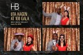Paul Pryce and guest having fun in the photo booth at HB Studio's Uta Hagen at 100 Gala