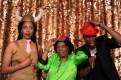 Amanda Enzo, Pat Golden, and Demetrius Blocker having fun in the photo booth at the Uta Hagen at 100 Gala