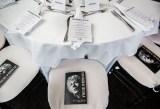 Programs and menus set at HB Studio's Uta Hagen at 100 Gala
