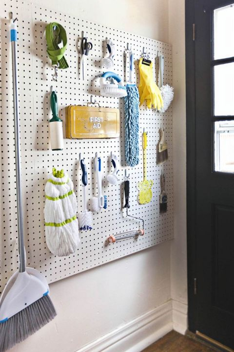 The laundry room can be an organizational minefield — but it doesn't have to be. We love how A Beautiful Mess blogger Elsie updated her laundry room with this colorful, easy-access pegboard. It's an ideal way to keep all of your miscellaneous supplies close-at-hand. MORE DIY: Lena Dunham Shares An Easy DIY For Your Bedroom