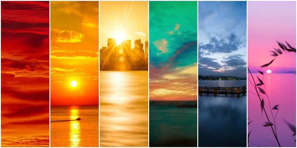 Most Colorful Sunsets A Rainbow Of Sunsets