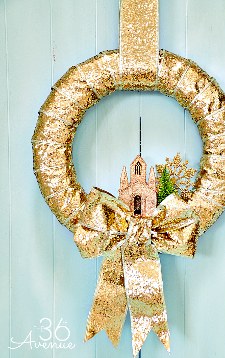 A hint of gold (or an entire wreath covered in it) is sure to make any entryway of your home glisten. See more at The 36th Avenue »