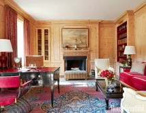 Home Libraries with Fireplace
