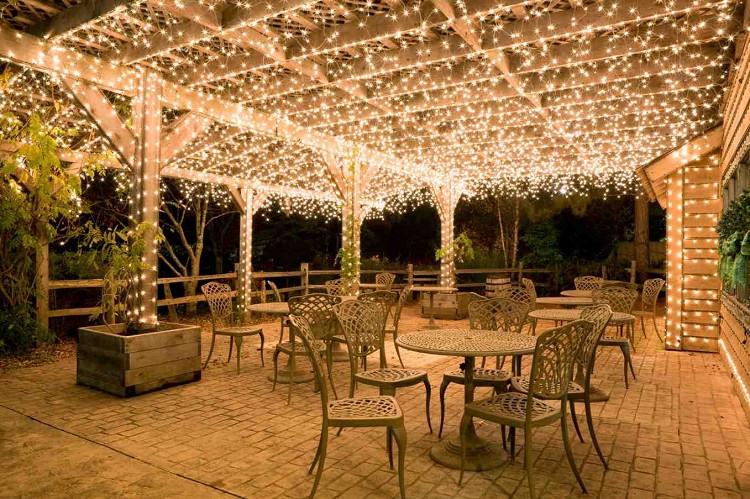 backyard string lights ceiling