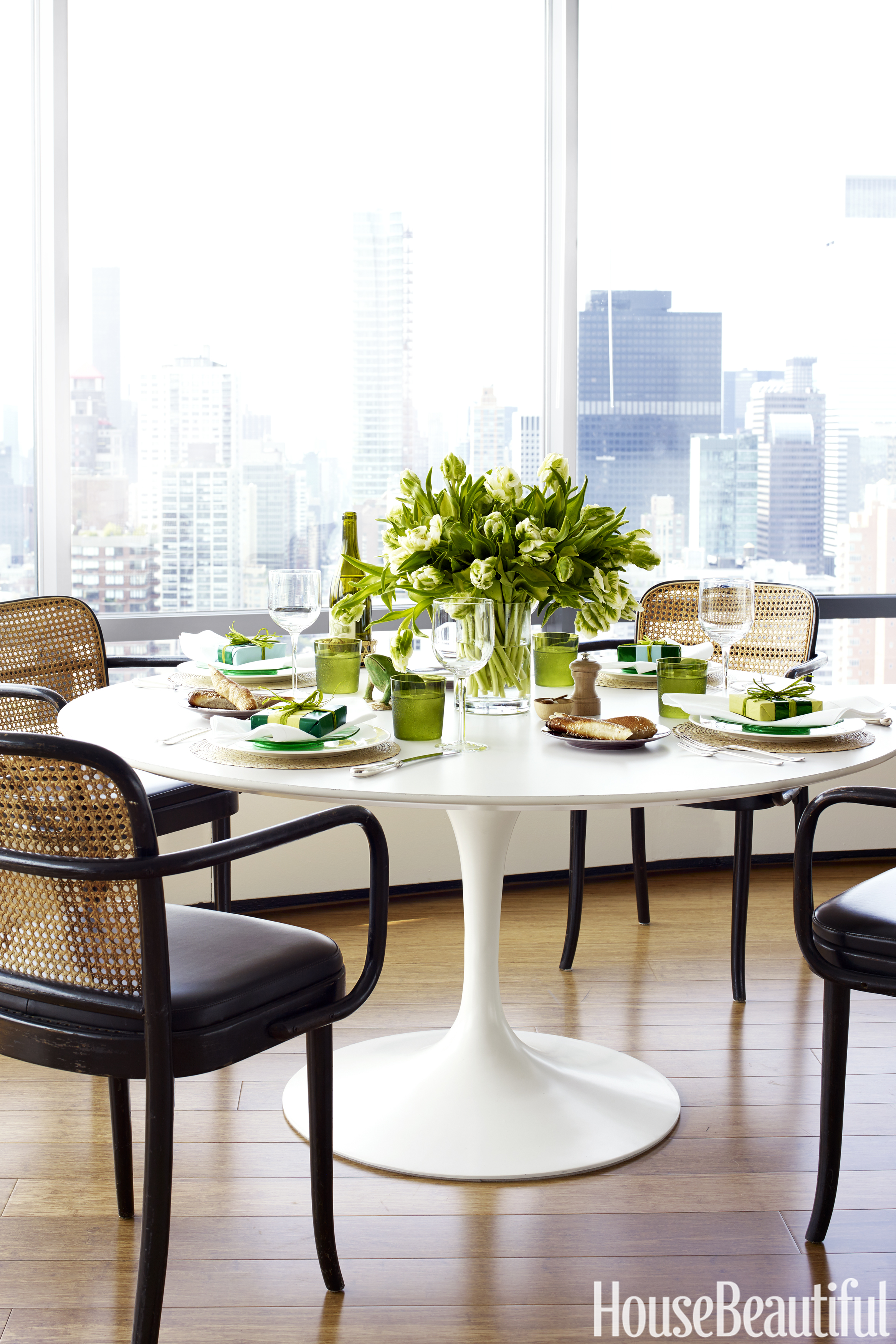 tulip dining room chairs chair design in solidworks tom scheerer 39s manhattan apartment curated and staged decor