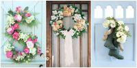 30 Spring Wreaths - Easter & Spring Door Decorations Ideas