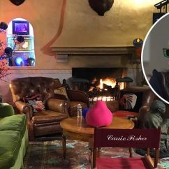 Design Living Room Furniture Arrangements Raymour And Flanigan Leather Carrie Fisher Home Tour - Auction