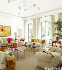 Living Room With Bold Color - House Beautiful