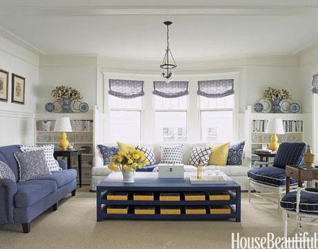white and blue living room White - Blue - Yellow - Michigan - Tom Stringer