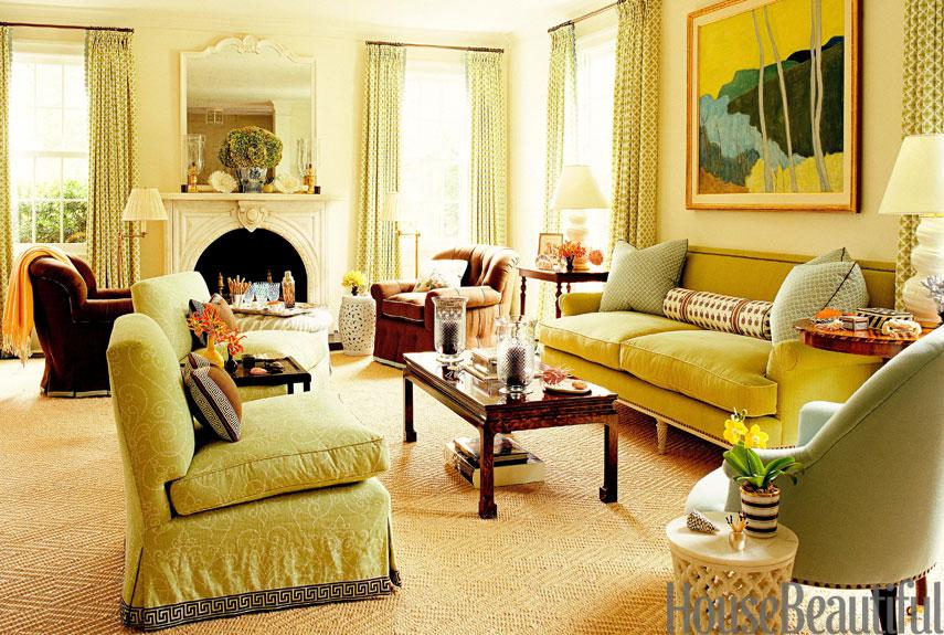 Light Green Living Room Walls