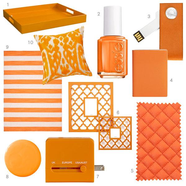 Tangerine Home Decor Orange Home Accessories