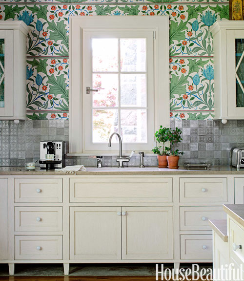 gilbert kitchen clock cost for cabinets william morris wallpaper - stephen sills ...