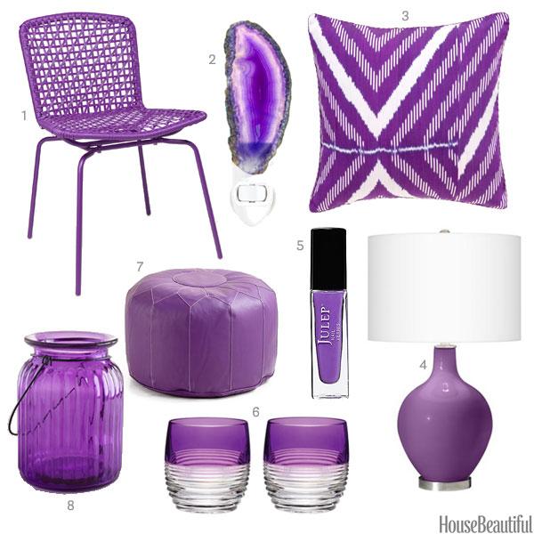 Bright Purple Accessories Purple Home Decor