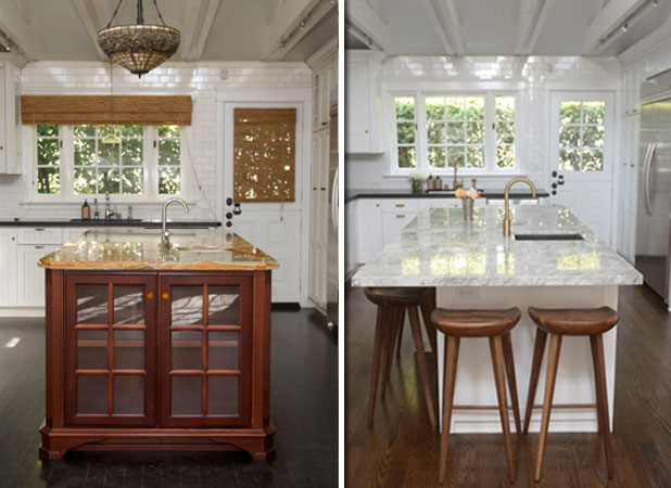 Before And After Sleek Kitchen