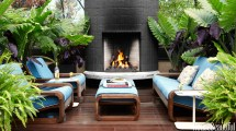 Deck and Outdoor Rooms with Fireplaces