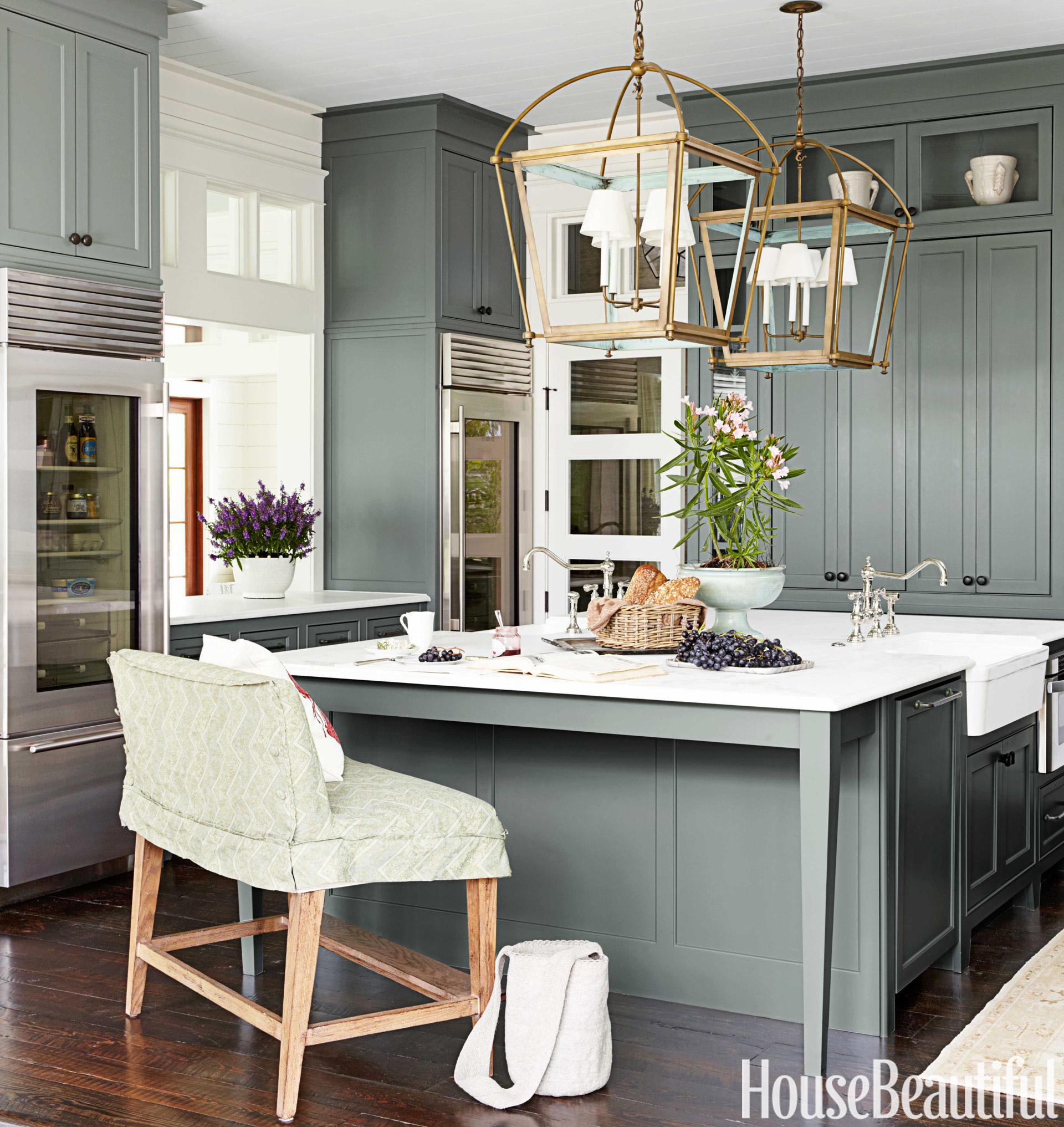 Ocean Inspired Kitchen  Urban Grace Interiors Kitchen