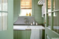 Lake House Bathroom - Green Color Bathroom Decorating Ideas