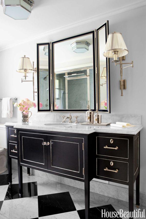 Master Bathroom Vanity Black