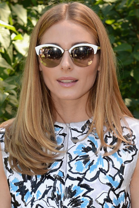Hair looks polished and even—but still full of dimension—when it has tons of thin highlights in the subtlest shade level brighter weaved throughout. Olivia Palermo serves as the ultimate reference to take to your stylist.