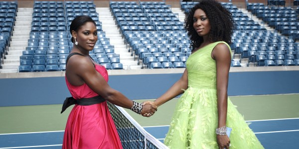 Serena Williams And Sister Venus' Fashion Tennis Court
