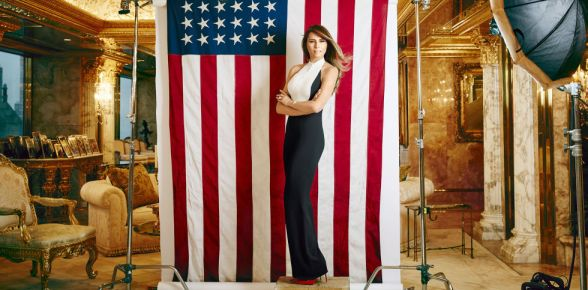Melania Trump featured in January issue of Harpers Bazaar