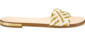 Jimmy Choo sandals, $475, jimmychoo.com.