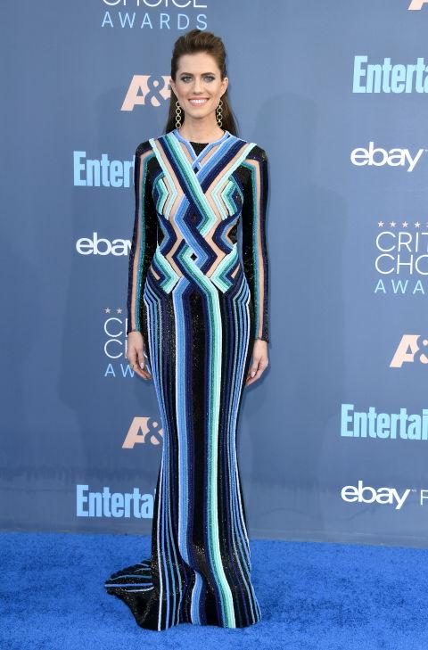 In Balmain dress, Brian Atwood heels and Jennifer Meyer jewelry.