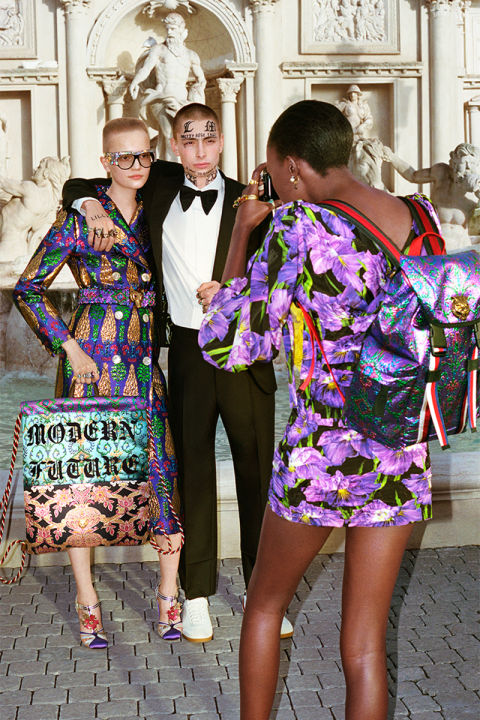 Models: Lina Hoss and Lorens Miklasevics  Photographer: Glen Luchford