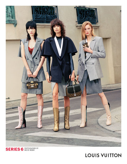 Models: Sora Choi, Mica Arganaraz and Rianne van Rompaey  Photographer: Bruce Weber