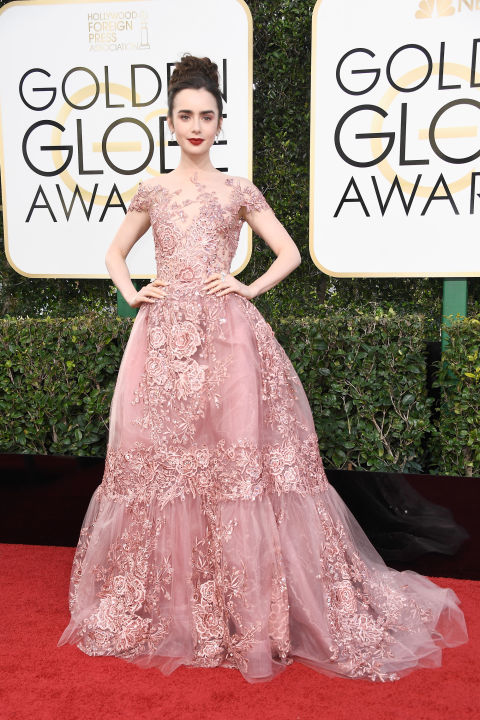 Lily Collins inZuhair Murad Couture