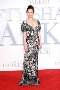 Dakota Johnsons Fifty Shades Darker Red Carpet Style