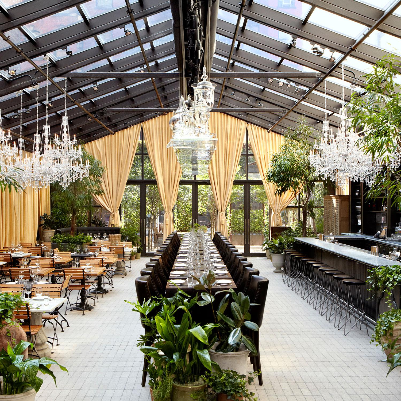 New York's Chicest Garden Restaurants  Best Restaurants