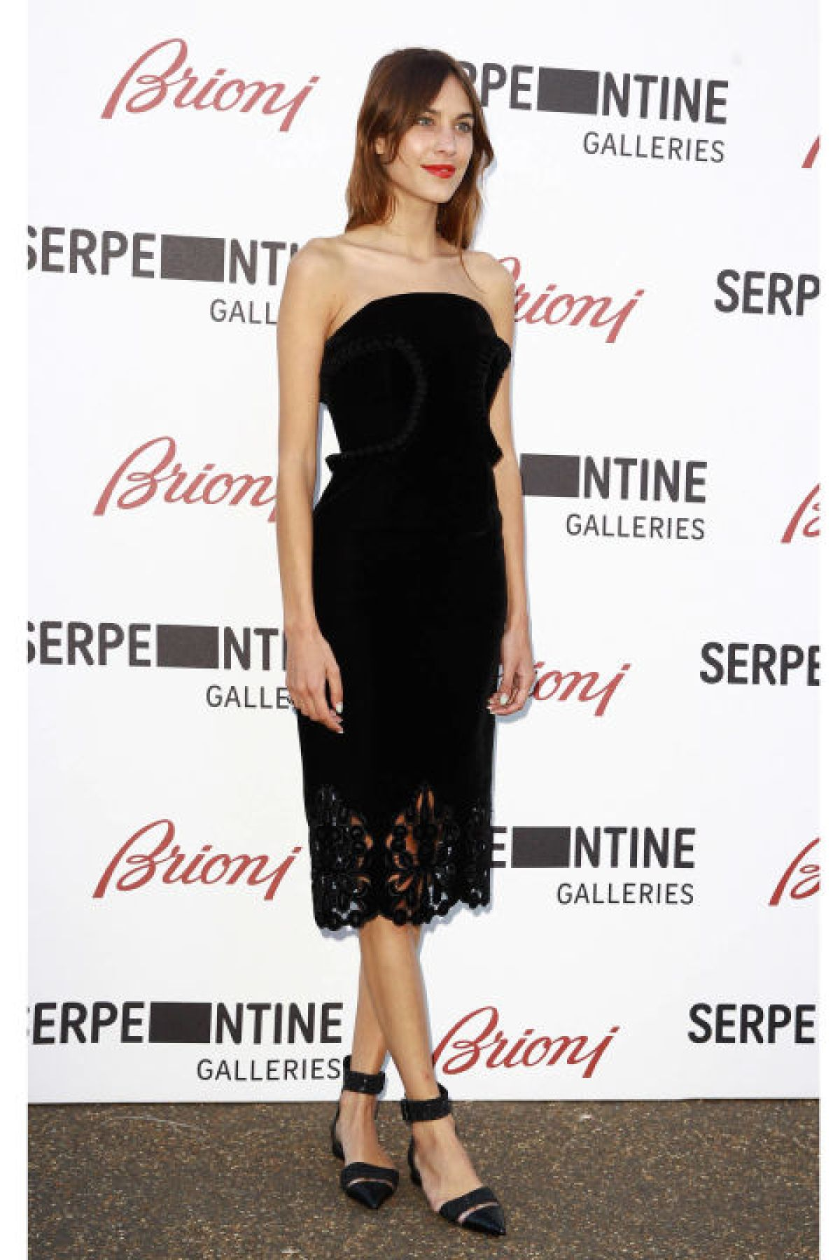 An unexpected choice with your favorite LBD, yet entirely elegant, ankle-strap flats have an effortlessly chic appeal. Plus, your feet will thank you at the end of the night.<br /><br /><br /> (Pictured: Alexa Chung)<br /><br /><br />