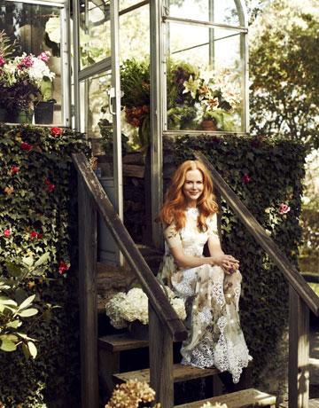 La dolce vita. Gown, $6,350, and bra, $275, Dolce & Gabbana. 877-70-DGUSA.
