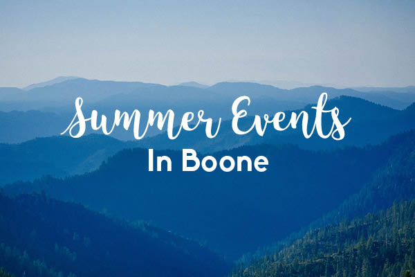 Summer Events in Boone