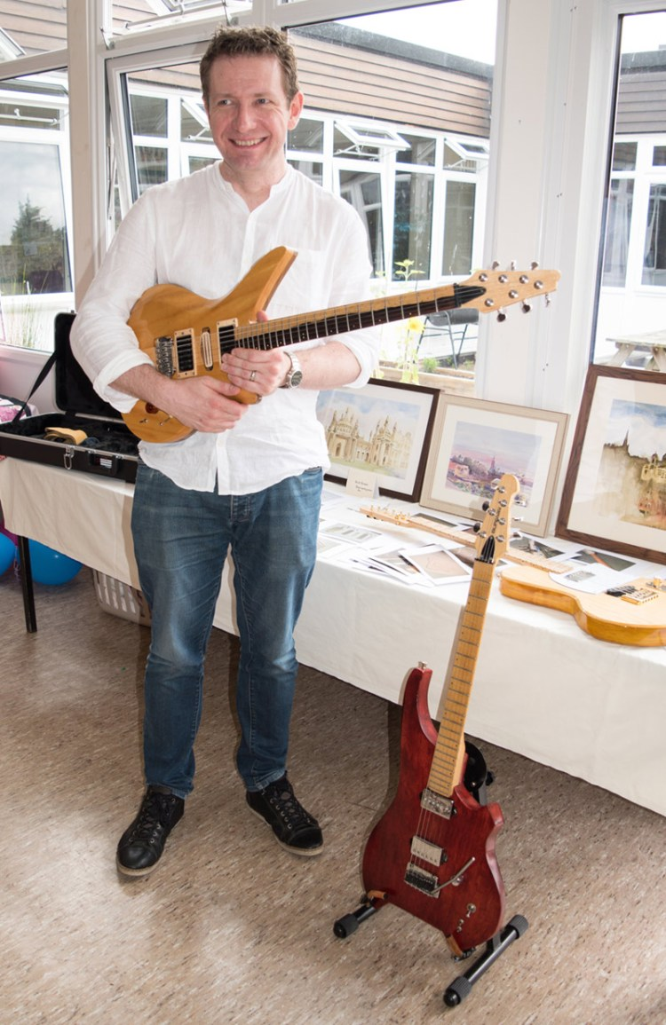 home made, hand built guitar, nick burman, hobbies, community church, bury st edmunds