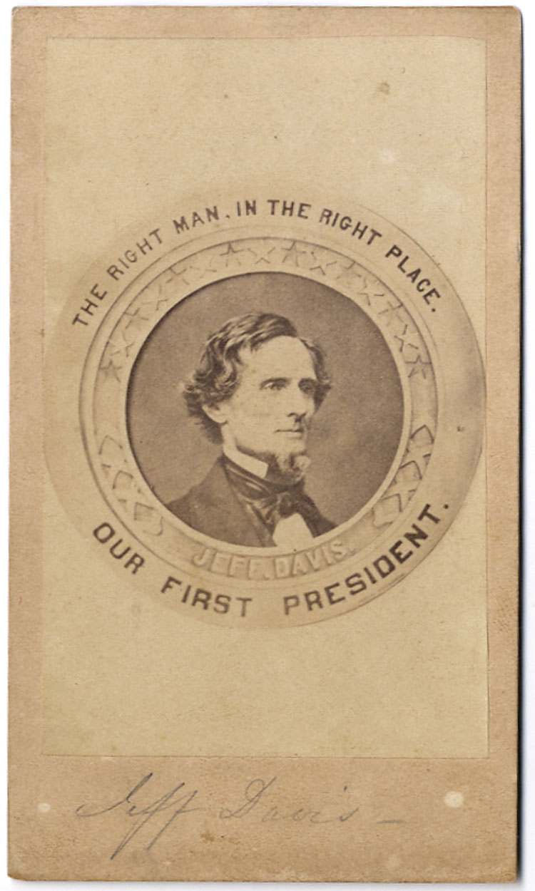 "Lot Detail  Rare ""our First President"" Confederate Cdv By"