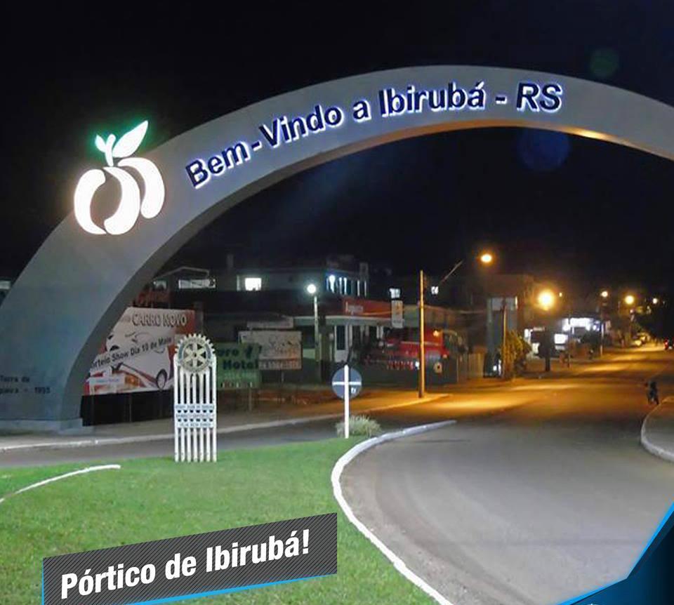 Iluminao Prtico Ibirub  RS  HCC Engenharia Eltrica