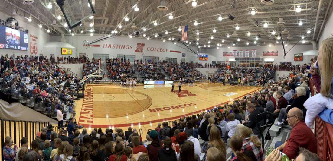 Over 2,300 people, including 13 high school teams filled Lynn Farrell Arena on Jan. 8 to watch the number four Broncos take down Concordia University for the first time since 2015.