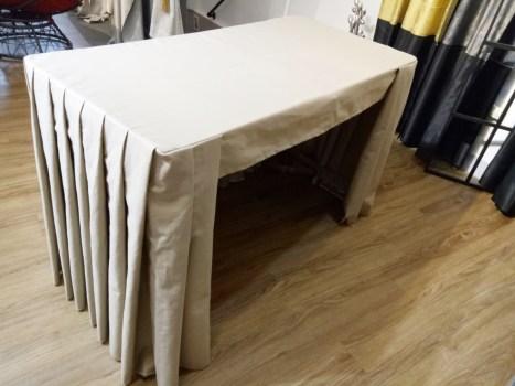 立體桌罩-三面圍(百褶)