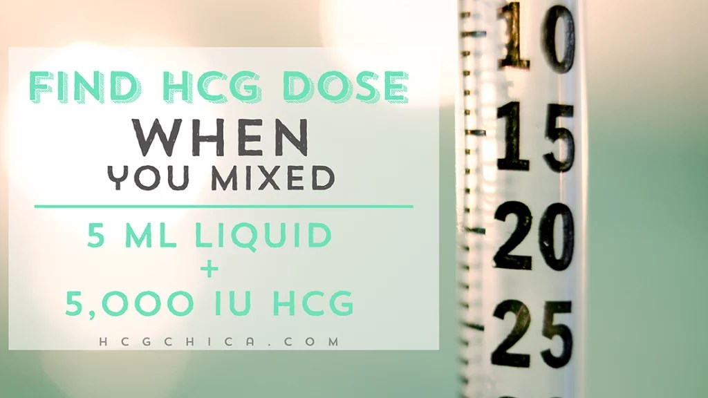 How to Find Your Dose of hCG On the Injection Syringe for