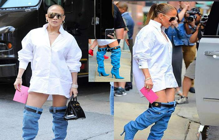 ec1b821bce Las engañosas botas de jean de Jennifer López que confundieron a las ...