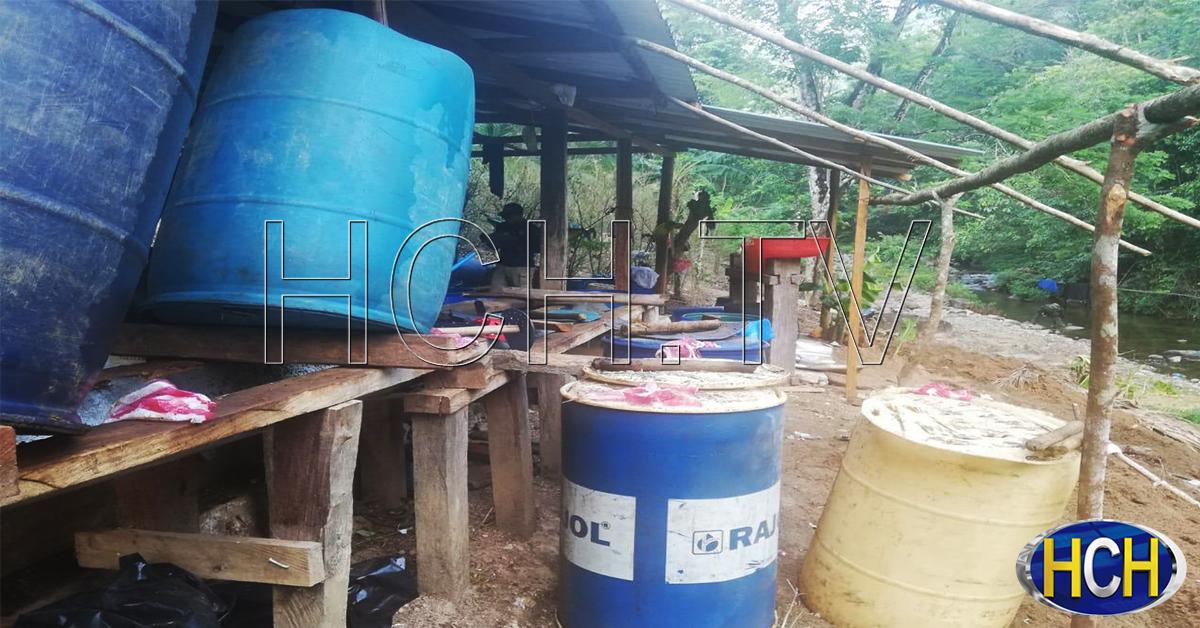 Descubren narco- laboratorio en Iriona